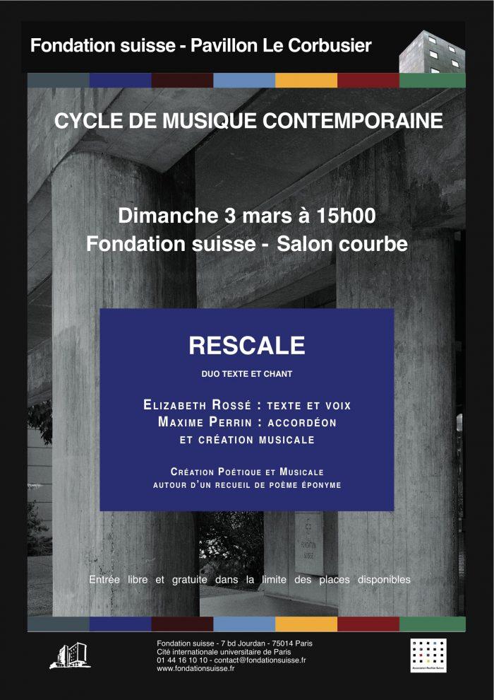 Affiche Rescale à la Fondation Suisse