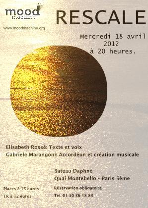 affiche Duo Rescale au Bateau Daphné
