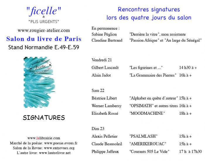 Signatures des éditions Rougier au Salon du livre